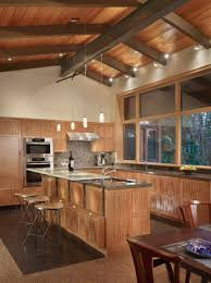warm modern kitchen 20 rooms with ceiling spotlights