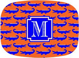monogrammed platter personalized melamine platter monogrammed by gamedaygirldesigns