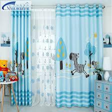 light blue blackout curtains buy custom light blue cartoon zebra