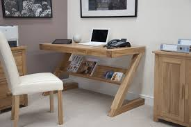Small Oak Writing Desk by Eton Solid Oak Modern Furniture Laptop Office Pc Computer Z Desk