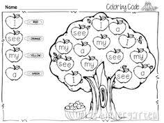 color sight word color number