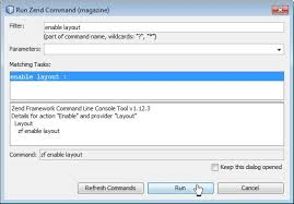 zend framework 2 override layout database application in zend framework 1 12 3 in netbeans 7 4 get