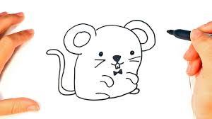 imagenes de ratones faciles para dibujar cómo dibujar un ratón kawaii paso a paso dibujo fácil de ratón