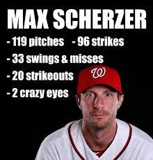 Crazy Eyes Meme - 20 strikeouts max scherzer meme crazy eyes baseball mlb