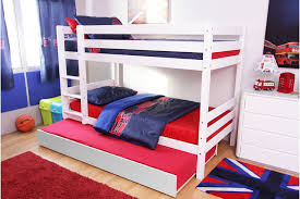 bunk bed with trundle color white