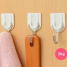 adhesive wall hooks 2018 wholesale white self adhesive wall hook hanger plastic sticky