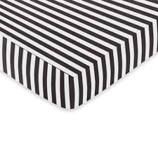 black and white collection fitted crib sheet from buy buy baby