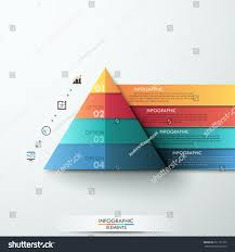 3d modern infographic option template pyramid stock vector
