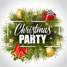 christmas party christmas party lettering in frame vector free