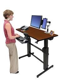 Sit Stand Desk Reviews by Ergotron Workfit D Sit Stand Desk Birch Decorative Desk Decoration