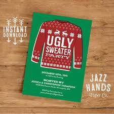 sweater invitation template diy printable