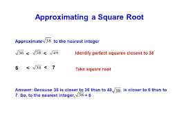 estimating u0026 approximating square roots ppt download