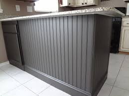 wainscoting kitchen island adding beadboard to your kitchen island in our spare time