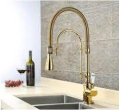 polished brass kitchen faucets bainbridge pull kitchen faucet contemporary lever