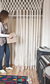 How To Make A Closet With Curtains Make Your Own Macrame Curtain U2013 A Beautiful Mess