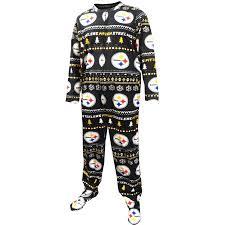 sweater pajamas pittsburgh steelers sweater guys one footie pajama