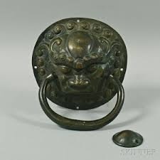 foo dog door knocker search all lots skinner auctioneers