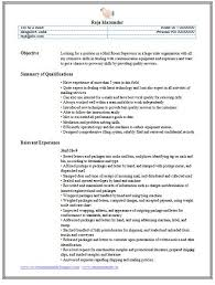 File Clerk Job Description Resume by 15 Excellent Mailroom Clerk Resume Samples Vinodomia