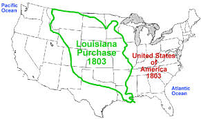 louisiana map in usa united states before louisiana purchase by fennomanic on