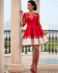 100 red cocktail dresses sleeves red sweetheart chiffon