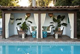 Backyard Cabana Ideas Fantastic Outdoor Cabana Curtains Inspiration With Pool Cabana