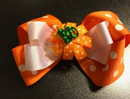 thanksgiving hair bows thanksgiving hair bow pumpkin hair bow fall hair bow toddler