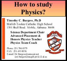 how to study physics dr burgess of mcgill toolen