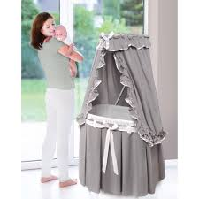 Free Baby Canopy by Badger Basket Majesty Baby Bassinet With Canopy Gray White