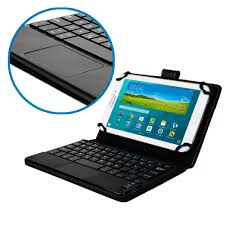 android tablet cases universal detachable bluetooth keyboard with touchpad leather