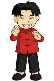 boy clipart asian boy flossing his teeth vector clipart friendlystock