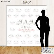 Wedding Backdrop Banner Photo Booth Backdrop Custom Step And Repeat Backdrop Banner