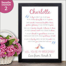 will you be my bridesmaid poem wedding be my bridesmaid cards personalised ebay