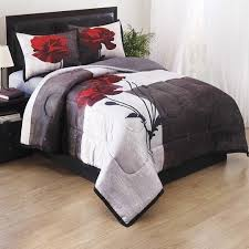 Red Bedroom Comforter Set Bedroom 3d Black And White Red Rose Flower Lips Bedding Comforter