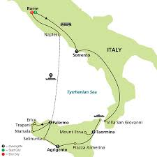 Map Of Italy And Sicily by Cosmos Tours Sicily Discovery 2016