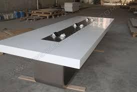 Quartz Conference Table Acrylic Artificial Stone Boardroom Conference Desk Modern Designs