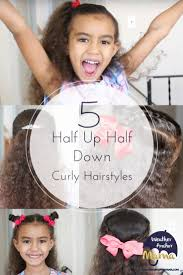 cute short hairstyles for bi racial hair 5 easy half up half down curly hairstyles weather anchor mama