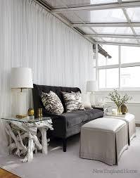 dark gray velvet sofa eclectic living room new england home
