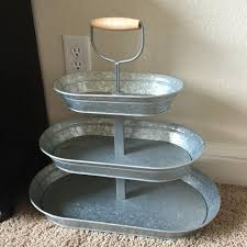 galvanized cake stand find more 20inx20in 3 tiered galvanized metal stand great