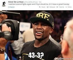 Floyd Mayweather Meme - boxing memes on twitter floyd mayweather reacts to oscar de la