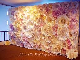 flower backdrop pink wedding paper flowers backdrop paper backdrop
