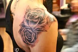 gaeroladid white rose tattoo on shoulder images