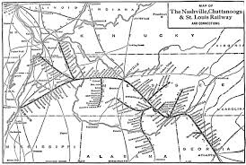 Map Of Nashville Tennessee by The Nashville Chattanooga And St Louis Railway