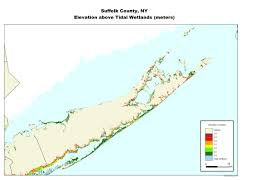 suffolk county map more sea level rise maps for york state