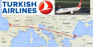 Air France Route Map by New Route For United Awards Bordeaux France To Istanbul On