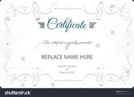 free template certificate numbers templates free