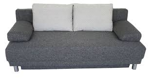 gray fabric sofa bed with storage compartment esf3163 modern