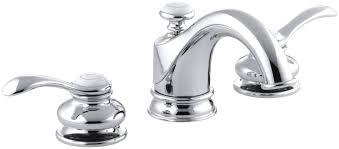 kohler fairfax widespread double handle bathroom faucet with drain