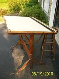 Dietzgen Drafting Table Vintage Dietzgen Drafting Table Oak Cast Iron Tilt Desk Antique