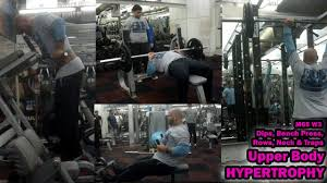Bench Press Hypertrophy Upper Body Hypertrophy Workout Using Compound Exercises Only Youtube