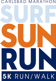 sunrun logo carlsbad marathon surf sun run 5k in motion events